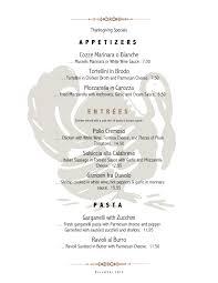 menu holiday menu template