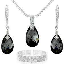 black swarovski crystals necklace images Cheap black swarovski earrings find black swarovski earrings jpg