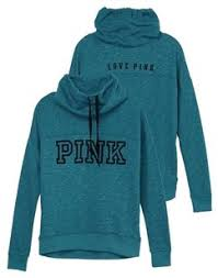 pink clothing pink teal marl s secret cowl neck crew xsmall xs sweater