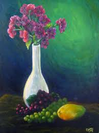 flower vase and fruits by christinec flower vase and fruits by christinec