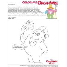 stay healthy with berries and peppers coloring page