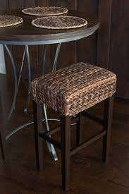 seagrass backless bar stool set of 2