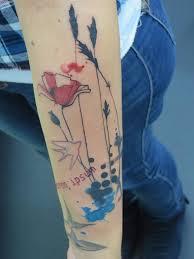 watercolor tattoo by sara rosenbaum berlin watercolor