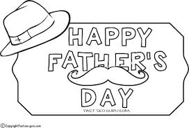 happy fathers day coloring pages free printable father hat for