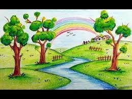 gallery easy scenery paintings for kids drawings art gallery