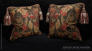 stroheim brocade with s harris velvet two designer pillows