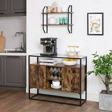 buffet sideboard cabinet storage kitchen hallway table industrial rustic industrial sideboard credenza sideboards buffets you ll