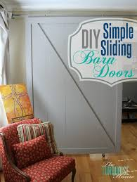 How To Build A Sliding Closet Door Diy Barn Doors The Turquoise Home
