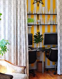Striped Yellow Curtains Striped Yellow Curtains With Striped Armchair Spaces Transitional