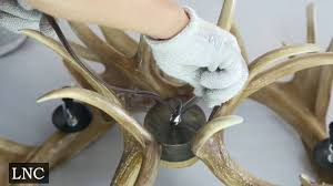 lnc antler chandelier installation instruction youtube