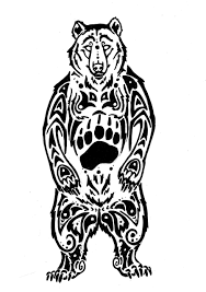 small tribal bear tattoo for men photos pictures and sketches