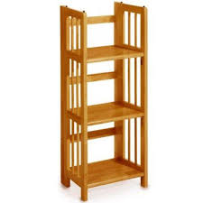 3 tier folding u0026 stacking shelf wood bookcase winsome woods