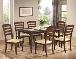 102841 baker dining table in warm brown by coaster w options