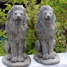 lions garden ornaments ebay