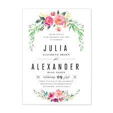floral wedding invitation blush paper co