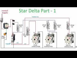 three phase star delta starter control diagram part 1 youtube