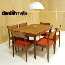 Mid Century Modern Dining Table Mid Century Danish Modern Teak Dining Complete Set Table U0026 6