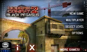 modern combat 2 free apk modern combat 2 black pegasus for android