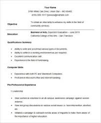 internship resume templates intern resume exles musiccityspiritsandcocktail