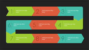 process path infographic quotable theme widescreen office