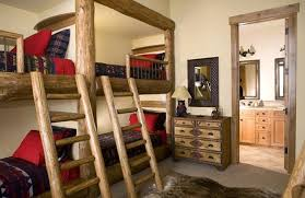 Timber Bunk Bed Bed Rooms Using Wooden Bunk Bed With Wood Color To