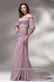 robe mariã e sirene robe de soirée longue en couleur lilas avec des manches