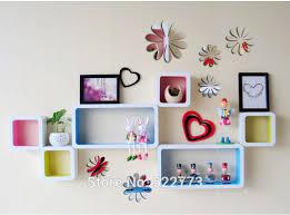 diy home decor wall 1set 12pcs flower stickers 3d home decoration mirror diy mirror wall