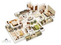 3d floor plans cut section u2013 luminie studio
