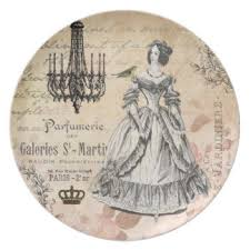 Shabby Chic Plates by Vintage Chandelier Plates Zazzle