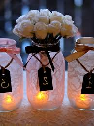 wedding table decoration ideas with mason jars wedding party