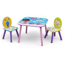 disney jr doc mcstuffins table and chairs set multi color