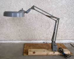 workbench magnifying glass with light industrial workbench etsy
