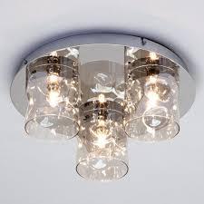 monet 3 light led flush ceiling light champagne from litecraft