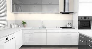 cuisine blanc laqué cuisine indogate cuisine blanc laque et gris cuisine gris et