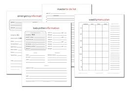 organized home printable menu planner a fresh start getting organized in the new year ftm