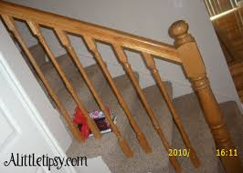Wood Banister Renew An Old Wood Banister A Little Tipsy