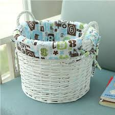 large white wicker storage baskets for clothes toys home bathroom