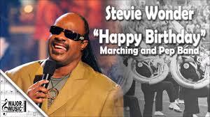 stevie wonder happy birthday happy birthday stevie wonder marching pep band sheet music