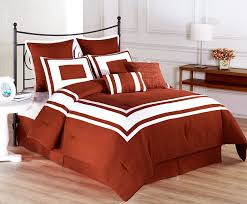 Orange Bed Sets Cozy Beddings Decor Collection 8 White