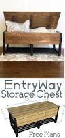 Wood Projects Free Plans by Entryway Storage Chest Entryway Storage Woodworking Plans And