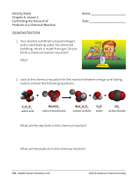 activity sheet name chapter 6 lesson 2