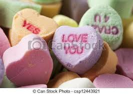 hearts candy colorful conversation hearts candy for valentines day stock photo
