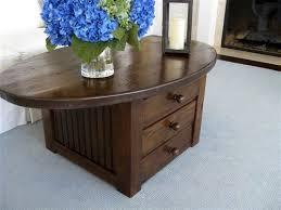 Oval Wood Coffee Tables Farmhouse Coffee Tables