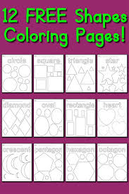 12 free shapes coloring pages circles squares triangles u0026 more