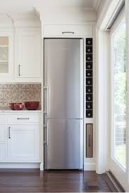wine fridge next to wine rack design ideas