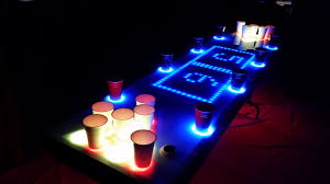 custom beer pong tables led beer pong table