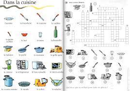 mots croisés de la cuisine a1 le français avec des jeux s