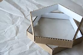Cardboard Pendant Light Diy Cardboard Pendant Light Poppytalk