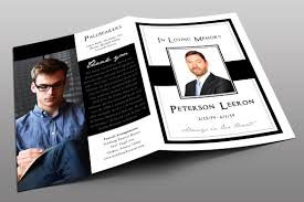 funeral program designs black funeral program template photos graphics fonts themes