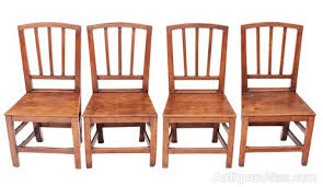 4 Dining Chairs Set Of 4 Georgian Elm Oak Kitchen Dining Chairs Antiques Atlas